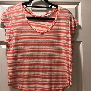 Splendid Loose stripe v-neck